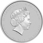 Australia 300 Dollars Year of the Dragon 2012 KM# 1669 ELIZABETH II AUSTRALIA 10 KG 999 SILVER 2012 300 DOLLARS coin obverse