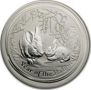 Australia 300 Dollars Year of the Rabbit 2011 KM# 1480 YEAR OF THE RABBIT P coin reverse