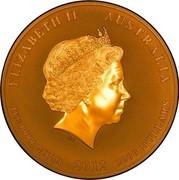 Australia 3000 Dollars Red Kangaroo 2012 P KM# 1687 ELIZABETH II AUSTRALIA 1 KG 9999 GOLD 2012 3000 DOLLARS IRB coin obverse