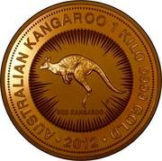 Australia 3000 Dollars Red Kangaroo 2012 P KM# 1687 AUSTRALIAN KANGAROO 1 KILO 9999 GOLD ∙2012 RED KANGAROO P coin reverse