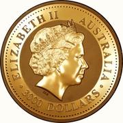 Australia 3000 Dollars Year of the Monkey 2004 KM# 719 ELIZABETH II AUSTRALIA 3000 DOLLARS IRB coin obverse