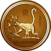 Australia 3000 Dollars Year of the Monkey 2004 KM# 719 2004 1 KILO 9999 GOLD coin reverse