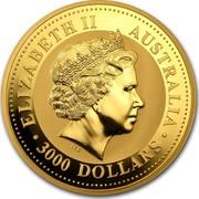 Australia 3000 Dollars Year of the Rooster 2005 KM# 700 ELIZABETH II AUSTRALIA 3000 DOLLARS IRB coin obverse