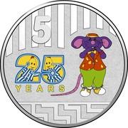 Australia 5 Cents 25th Anniversary Bananas in Pyjamas 2017  5 25 YEARS coin reverse