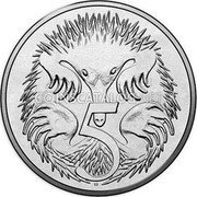Australia 5 Cents 50 Years of Decimal Currency 2016  5 SD coin reverse