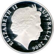 Australia 5 Dollars 150 Years of State Government 2006 KM# 859 ELIZABETH II AUSTRALIA 2006 IRB coin obverse