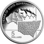 Australia 5 Dollars 150 Years of State Government 2006 KM# 857 150 YEARS OF STATE GOVERMENT 5 DOLLARS coin reverse