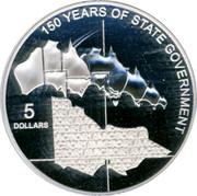 Australia 5 Dollars 150 Years of State Government 2006 KM# 859 150 YEARS OF STATE GOVERMENT 5 DOLLARS coin reverse