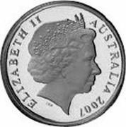 Australia 5 Dollars 75th Anniversary Sydney Harbour Bridge 2007 Proof KM# 1013 ELIZABETH II AUSTRALIA 2007 coin obverse