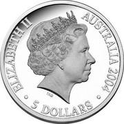 Australia 5 Dollars Adelaide to Darwin Railroad 2004 Proo KM# 729 ELIZABETH II AUSTRALIA 2004 5 DOLLARS IRB coin obverse
