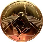 Australia 5 Dollars Australian Open 2005 2005 KM# 750 1905 AUSTRALIAN OPEN 2005 coin reverse