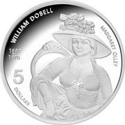Australia 5 Dollars Australia's Artists - William Dobell 2007 Proof KM# 863 1899 - 1970 WILLIAM DOBELL MARGARET OLLEY 5 DOLLARS coin reverse