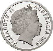 Australia 5 Dollars Aviation - De Havilland DH 86 2009 Proof KM# 1510 ELIZABETH II AUSTRALIA 2009 IRB coin obverse
