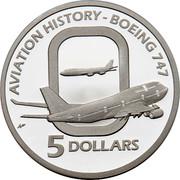 Australia 5 Dollars Aviation History - Boeing 747 2010 KM# 1512 AVIATION HISTORY - BOEING 747 5 DOLLARS coin reverse