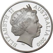 Australia 5 Dollars Aviation - S.25 Sandringham 2010 Proof KM# 1511 ELIZABETH II AUSTRALIA 2010 IRB coin obverse