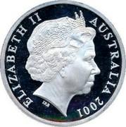 Australia 5 Dollars Barton and Reid 2001 KM# 592 ELIZABETH II AUSTRALIA 2001 IRB coin obverse