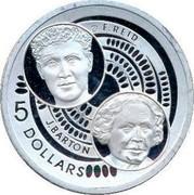 Australia 5 Dollars Barton and Reid 2001 KM# 592 F. REID J. BARTON 5 DOLLARS coin reverse