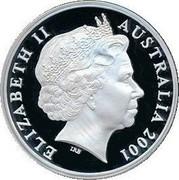 Australia 5 Dollars Bathurst Ladies Organizing Committee 2001 B Proof KM# 641 ELIZABETH II AUSTRALIA 2001 coin obverse