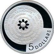 Australia 5 Dollars Bathurst Ladies Organizing Committee 2001 B Proof KM# 641 5 DOLLARS coin reverse