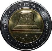 Australia 5 Dollars Battle of Sunda Strait 2002 KM# 601 BATTLE OF SUNDA STRAIT 1942 USS HOUSTON HMAS PERTH 2002 5 DOLLARS U.S.S. HOUSTON 1930 coin reverse