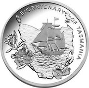 Australia 5 Dollars Bicentenary of Tasmania 2004 KM# 728 BICENTENARY OF TASMANIA coin reverse