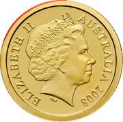 Australia 5 Dollars Binny Bilby 2008 Proof KM# 1067 ELIZABETH II AUSTRALIA 2008 IRB coin obverse