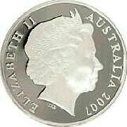 Australia 5 Dollars Clifford Possum Tjapaltjarri 2007 Proof KM# 862 ELIZABETH II AUSTRALIA 2007 coin obverse