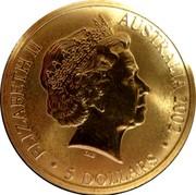 Australia 5 Dollars Commonwealth Games Manchester 2002 KM# 649 ELIZABETH II AUSTRALIA 2002 5 DOLLARS IRB coin obverse