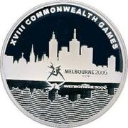 Australia 5 Dollars Commonwealth Games Melbourne 2006 KM# 782 XVIII COMMONWEALTH GAMES MELBOURNE 2006 coin reverse