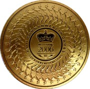 Australia 5 Dollars Commonwealth Games Melbourne 2006 KM# 783 XVIII COMMONWEALTH GAMES MELBOURNE 2006 COMMONWEALTH NATIONS coin reverse