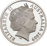 Australia 5 Dollars Constellation L749 2009 Proof KM# 1509 ELIZABETH II AUSTRALIA 2009 IRB coin obverse