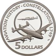 Australia 5 Dollars Constellation L749 2009 Proof KM# 1509 AVIATION HISTORY - CONSTELLATION L749 5 DOLLARS coin reverse