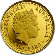 Australia 5 Dollars Discover Australia - Emu 2006 Proof KM# 956 ELIZABETH II AUSTRALIA 5 DOLLARS coin obverse