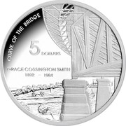 Australia 5 Dollars Grace Cossington Smith 2007 Proof KM# 861 CURVE OF THE BRIDGE 5 DOLLARS GRACE COSSINGTON SMITH 1892 -1984 coin reverse