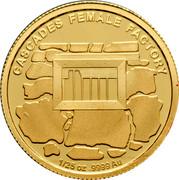 Australia 5 Dollars Historic Convict Past - Cascades Female Factory 2011 Proof KM# 1638 CASCADES FEMALE FACTORY 1/25 OZ .9999 AU coin reverse