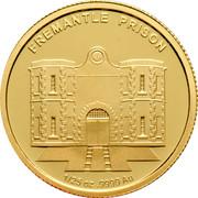 Australia 5 Dollars Historic Convict Past - Fremantle Prison 2011 Proof KM# 1639 FREMANTLE PRISON 1/25 OZ .9999 AU coin reverse