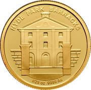 Australia 5 Dollars Historic Convict Past - Hyde Park Barracks 2011 Proof KM# 1636 HYDE PARK BARRACKS 1/25 OZ .9999 AU coin reverse