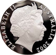 Australia 5 Dollars HMS Investigator 2002 KM# 656 ELIZABETH II AUSTRALIA 2002 IRB coin obverse