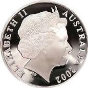 Australia 5 Dollars Jacht Duyfken 2002 KM# 653 ELIZABETH II AUSTRALIA 2002 IRB coin obverse