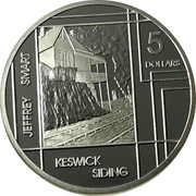 Australia 5 Dollars Jeffrey Smart - Keswick Siding 2006 Proof KM# 860 JEFFREY SMART KESWICK SIDING 5 DOLLARS coin reverse