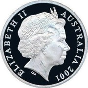 Australia 5 Dollars Kingston - Barton and Deakin 2001 KM# 637 ELIZABETH II AUSTRALIA 2001 IRB coin obverse