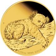 Australia 5 Dollars Koala 2012 KM# 1843 1/25 OZ 9999 GOLD P AH coin reverse