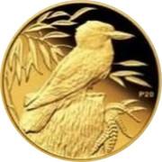 Australia 5 Dollars Kookaburra 20th Anniversary - Standing on stump right 2009 Proof KM# 1297 P20 coin reverse