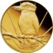 Australia 5 Dollars Kookaburra on branch sunburst in background 2009 Proof KM# 1316 P20 coin reverse