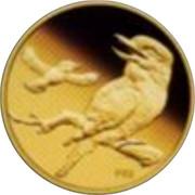 Australia 5 Dollars Kookaburra on fence post 2009 Proof KM# 1305 P20 coin reverse