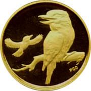 Australia 5 Dollars Kookaburra one in flight one on branch 2009 Proof KM# 1311 P20 coin reverse