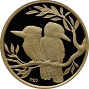 Australia 5 Dollars Kookaburra pair on branch heads opposite 2009 Proof KM# 1301 P20 coin reverse