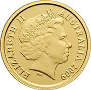 Australia 5 Dollars Little Dinkums Frilled Neck Lizard 2009 Proof KM# 1085 ELIZABETH II AUSTRALIA 2009 IRB coin obverse