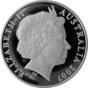 Australia 5 Dollars Margaret Preston - Implement Blue 2007 KM# 864 ELIZABETH II AUSTRALIA 2007 IRB coin obverse