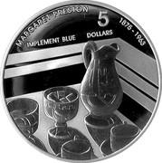 Australia 5 Dollars Margaret Preston - Implement Blue 2007 KM# 864 MARGARET PRESTON 1875 - 1963 5 DOLLARS IMPLEMENT BLUE coin reverse